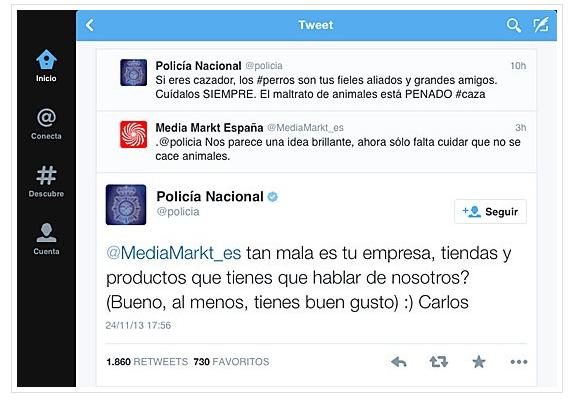 respuesta de la policia